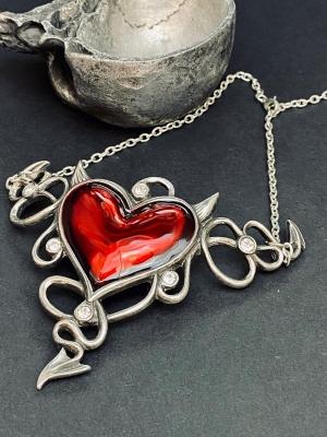 Alchemy Large Red Enamel Devil Heart