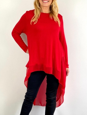 light red knitwear