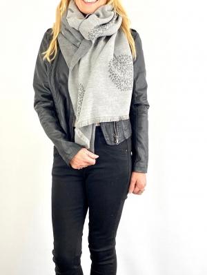 grey scarfe with tree