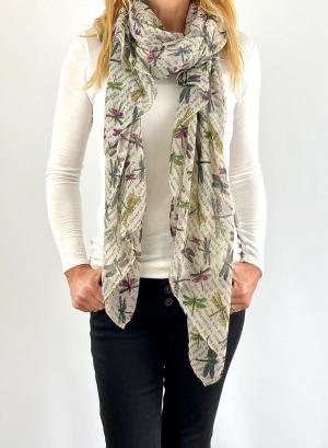 white checkered scarfe