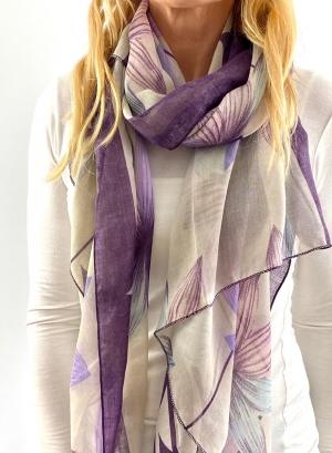 Purple and white scrafe Thumb