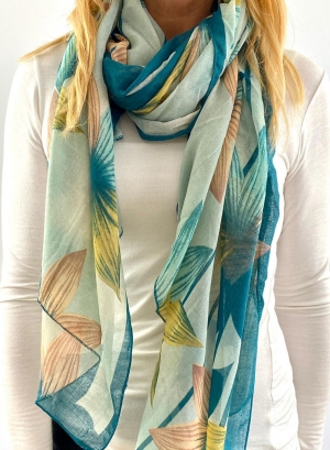 white and light blue scarfe Thumb