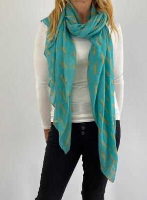 Turquoise scarfe