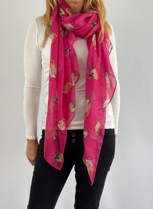 light pink and bird scarfe