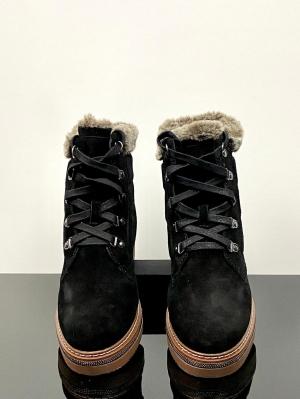 Carmela Caprice Black Leather Ankle Boot Thumb