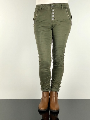 Khaki Stretch Jeans