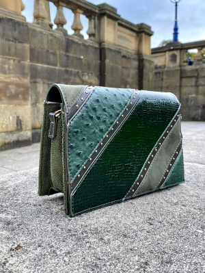 Menbur Green Studded Handbag
