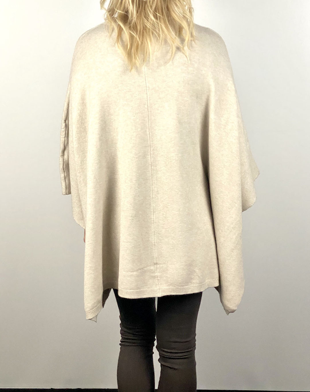Cream Button Poncho Jumper  Main