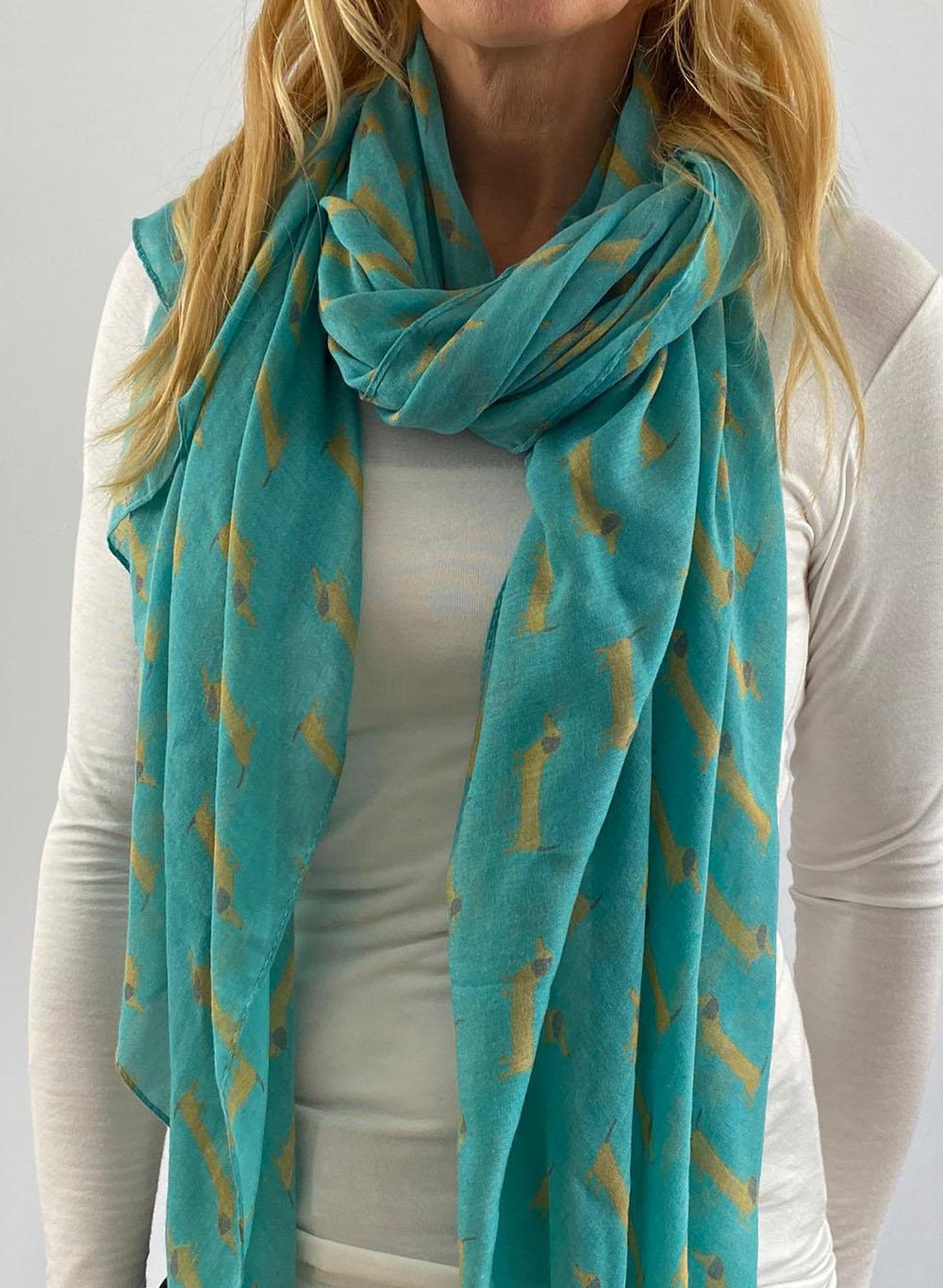 Turquoise scarfe Main