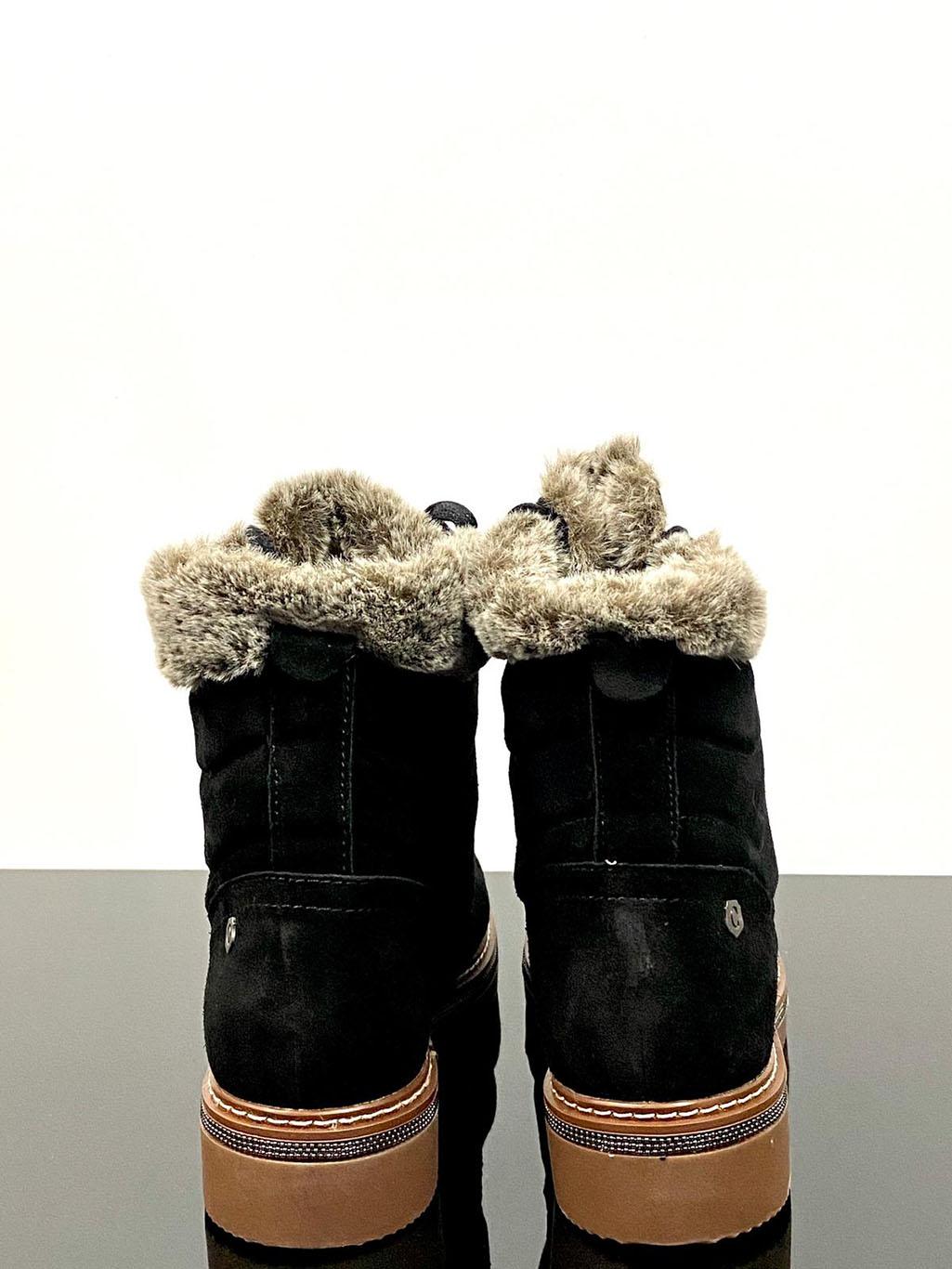 Carmela Caprice Black Leather Ankle Boot Main